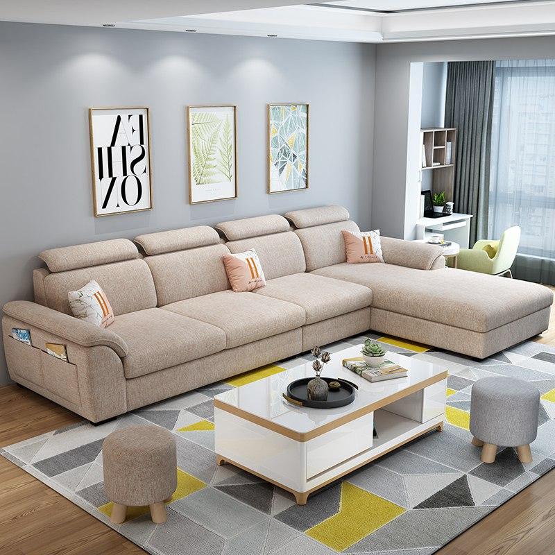 凯佳蒂家具北欧小户型客厅整装贵妃沙发现代简约布艺沙发组合套装-tmall.com天猫