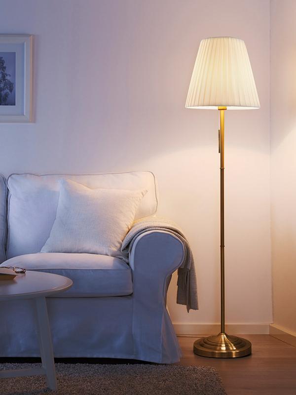旭呈北欧风落地灯客厅卧室简约现代美式欧式黄铜复古温馨立式台灯-tmall.com天猫