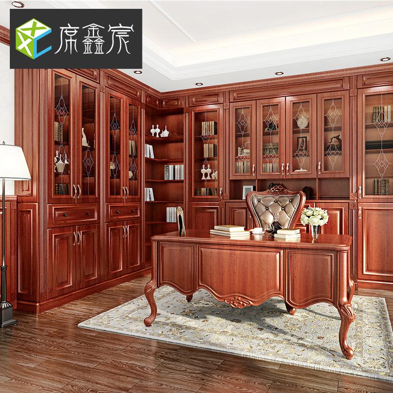 全屋定制全实木新中式风格衣柜书柜衣帽间
